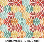 Seamless Pattern With Hexagons  ...