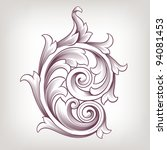 vintage baroque scroll design... | Shutterstock .eps vector #94081453