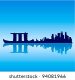 detailed vector singapore... | Shutterstock .eps vector #94081966