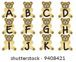 alphabet bears are holding the...