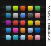 25 popular color blank web...   Shutterstock .eps vector #94084702