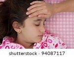 portrait of a beautiful...   Shutterstock . vector #94087117