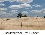 Sierra foothills around Mariposa in Central Valley, California - stock photo