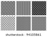 Stock vector set of monochrome elegant seamless patterns 94105861