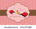 ladybugs with flower | Shutterstock .eps vector #94107688