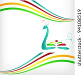 abstract bird against the... | Shutterstock .eps vector #94108519