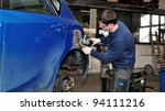 Car body worker. - stock photo