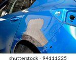 Car body repair. - stock photo