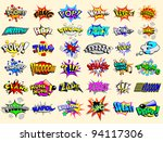 cartoon text explosions | Shutterstock .eps vector #94117306