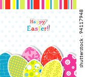 template egg greeting card ... | Shutterstock .eps vector #94117948