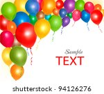 balloons frame composition with ...   Shutterstock .eps vector #94126276