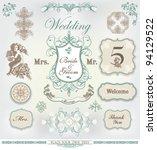 wedding decoration set | Shutterstock .eps vector #94129522