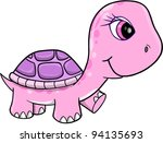 cute pink girl turtle vector... | Shutterstock .eps vector #94135693