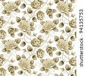 Retro Vector Floral Pattern...