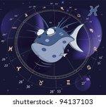 pisces zodiac sign. fish   Shutterstock .eps vector #94137103