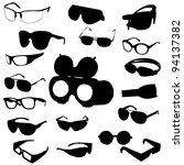 glasses and sunglasses vector... | Shutterstock .eps vector #94137382
