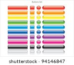 set of colored web buttons | Shutterstock .eps vector #94146847