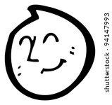 happy emoticon face cartoon ...   Shutterstock . vector #94147993