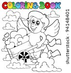 coloring book valentine theme 3 ... | Shutterstock .eps vector #94148401