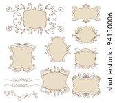 set of vintage decorative frames | Shutterstock .eps vector #94150006