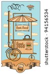 mobile fast food shop in the... | Shutterstock .eps vector #94156534