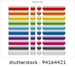 set of colorful web buttons | Shutterstock .eps vector #94164421