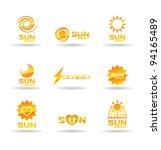 set of sun energy icons.   Shutterstock .eps vector #94165489