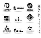 set of oil  icons. petroleum... | Shutterstock .eps vector #94165507
