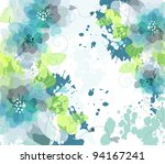 artistic flower background | Shutterstock .eps vector #94167241