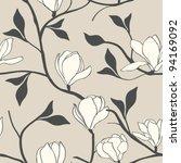 Stock vector magnolia flower seamless 94169092