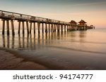 Dawn At The Naples Pier In...