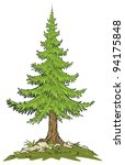 fir tree   cartoon clip art | Shutterstock .eps vector #94175848