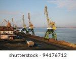 port cranes | Shutterstock . vector #94176712