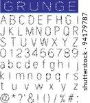 grunge alphabet  font set | Shutterstock .eps vector #94179787