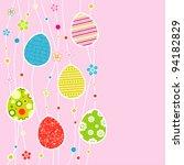 template egg greeting card ... | Shutterstock .eps vector #94182829