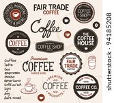 set of retro and drawn coffee... | Shutterstock .eps vector #94185208