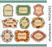 vintage labels set   vector... | Shutterstock .eps vector #94191421