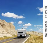 recreational vehicle on scenic... | Shutterstock . vector #9419170