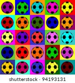 colorful football background | Shutterstock .eps vector #94193131