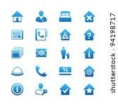 hotel icon set   Shutterstock .eps vector #94198717