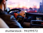 driving a car at night | Shutterstock . vector #94199572