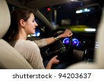 driving a car at night   pretty ... | Shutterstock . vector #94203637