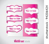 valentine pink heart labels | Shutterstock .eps vector #94206424