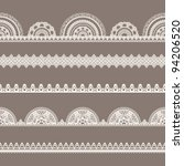 vector lace set seamless borders
