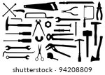 different tools isolated on... | Shutterstock .eps vector #94208809