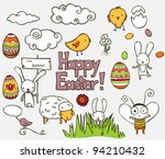 collection of colorful easter... | Shutterstock .eps vector #94210432