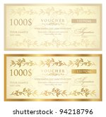 voucher template with floral... | Shutterstock .eps vector #94218796