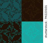 turquoise floral seamless... | Shutterstock .eps vector #94223101