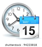 schedule icon   office clock... | Shutterstock .eps vector #94223818