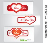 valentine heart stickers | Shutterstock .eps vector #94226143